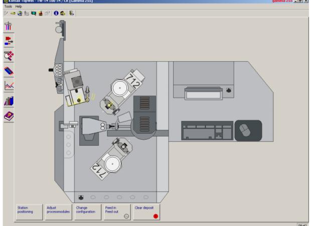 Komax Gamma 255 – станок для автоматической обработки провода: компьютерный интерфейс