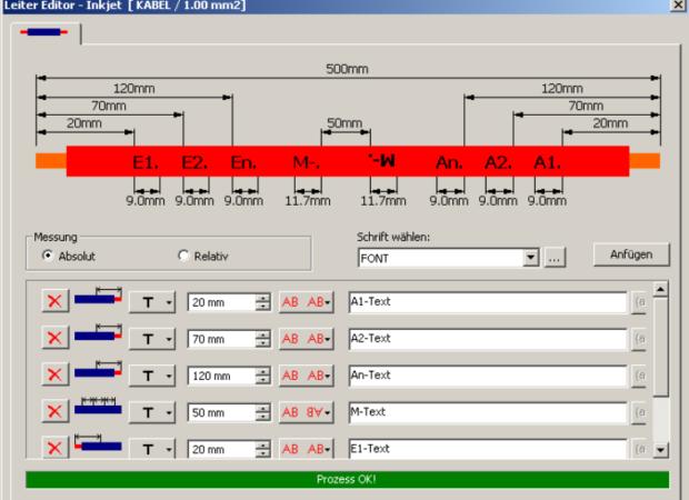 Komax IMS 295 BC (Black Color) – Принтер для каплеструйной маркировки черными чернилами: интерфейс настройки