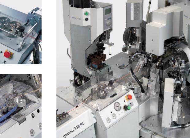 Komax Gamma 333 PC – станок для автоматической обработки провода: фото различных деталей станка