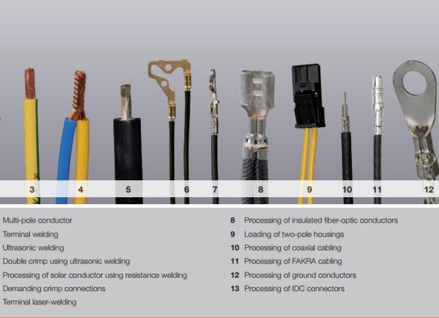 Komax Alpha 356 – станок для комплексной обработки проводов: примеры готовых образцов