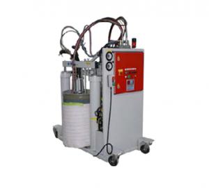 Установка PolyTool 8120 – базовая система дозирования, заливки и смешивания. Типовой материал: эпоксидный клей.