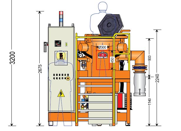 Вакуумная печь для отжига магнитопровода: схема общего вида