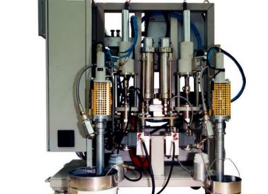 УСТАНОВКА POWERSPRAY 2051/4051 - приготовления смесей в промышленных объемах: крупный план