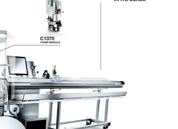 Komax Alpha 550 - автоматическая линия для двухсторонней опрессовки и установки уплотнителя: схема фото 2