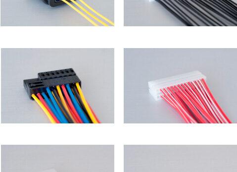 Пример готовых проводов после обработки на станке Komax Zeta 651